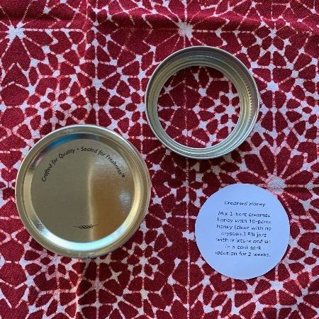 honey lid labels